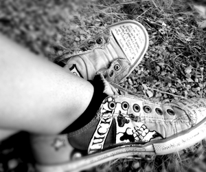black and white, cool, and trainers image