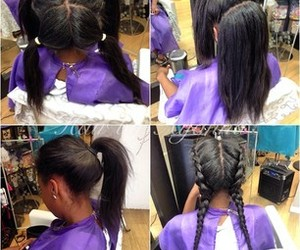 hairstyle, luxury, and weave image