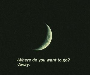 away, boy, and moon image