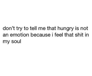 hungry, emotions, and food image