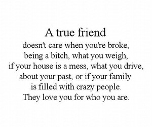 quote, love, and friends image