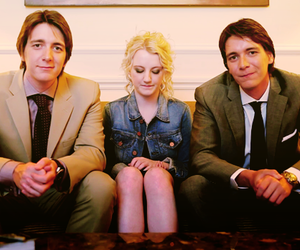 harry potter, evanna lynch, and james phelps image