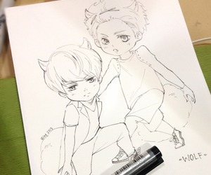 exo, wolf, and luhan image