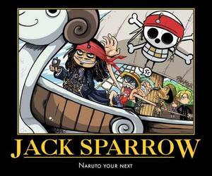 jack sparrow, one piece, and funny image