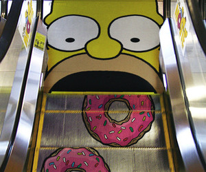 simpsons, donuts, and homer image