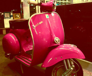 old, pink, and scooter image