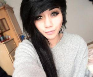 girl, black hair, and emo image