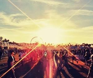 coachella, festival, and sun image