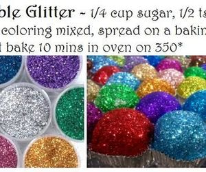 glitter, diy, and food image