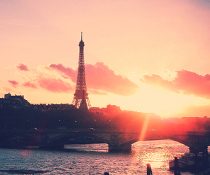 paris, sunset, and france image