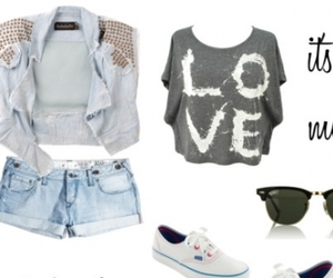 clothes, love it, and summer image