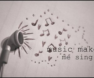 music, singing, and love image