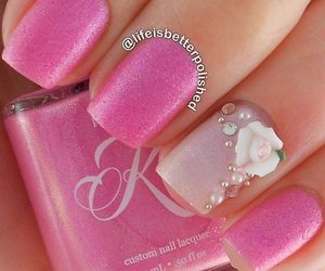 belleza, glitter, and nails image