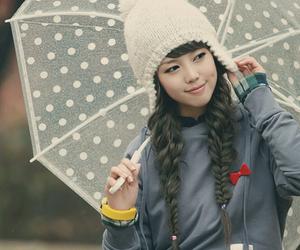 girl, cute, and umbrella image