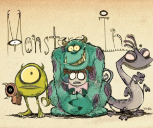 tim burton and monster inc image