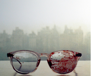 blood, glasses, and john lennon image