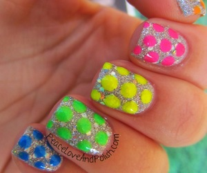 nails, cute, and polka-dot image