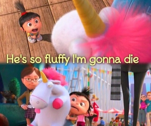 despicable me, agnes, and fluffy image
