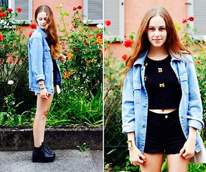 clothes, denim, and look book image