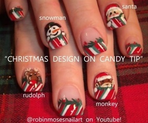 art, nail, and christmas image