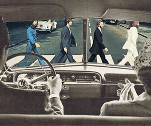 the beatles, beatles, and vintage image