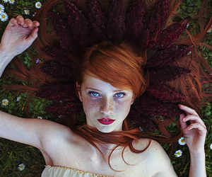 redhead, beautiful, and photography image