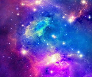 galaxy, stars, and blue image
