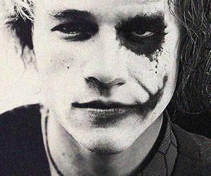 joker, heath ledger, and black and white image