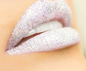 lips, glitter, and white image