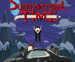 supernatural, adventura time, and supernatural time image