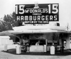 hamburger and McDonald's image