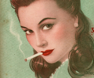 ads, cigarettes, and woman image