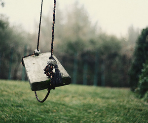 swing, alone, and nature image