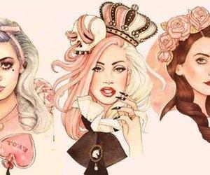 Lady gaga, lana del rey, and marina and the diamonds image