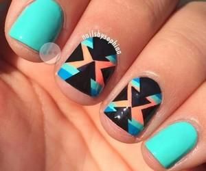 blue, fashion, and nail art image