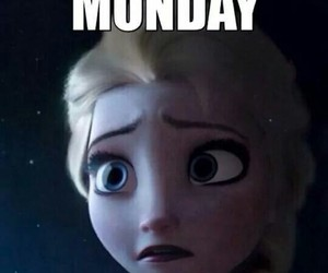 frozen, monday, and disney image