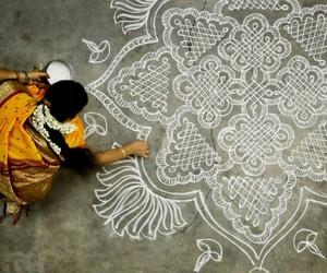 india, mandala, and art image