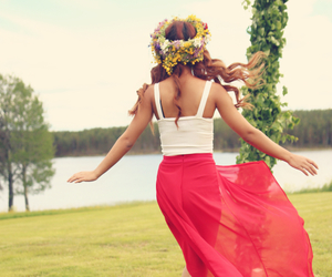 girl, midsummer, and summer image