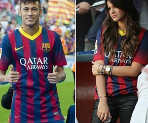 neymar, Barcelona, and couple image