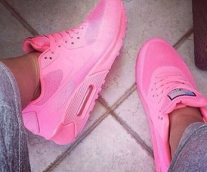 pink, nike, and shoes image