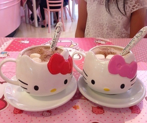 hello kitty, kawaii, and pink image