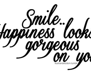 smile, happiness, and quote image