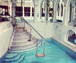pool, house, and water image