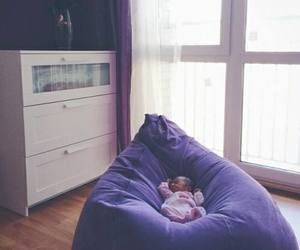 baby, lovely, and purple image