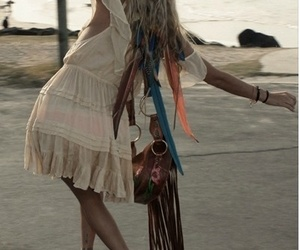 hippie, hair, and dress image