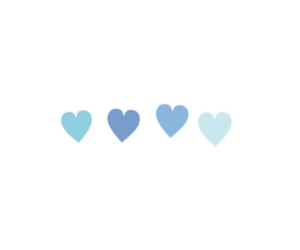 blue, heart, and pastel image
