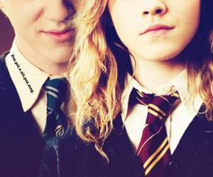 harrypotter, hermione, and draco image