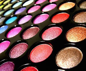 colourful, eyeshadow palette, and make-up image