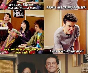 college, funny, and himym image