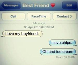 love, boyfriend, and food image